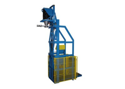 7153-AD Lift & Dump Drum Discharger
